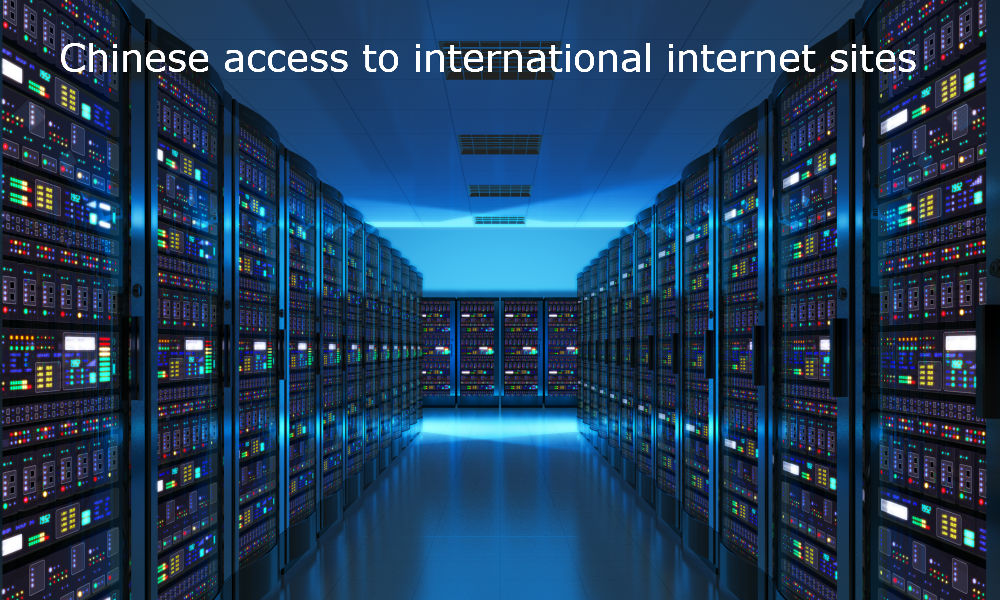 Chinese access to international internet sites