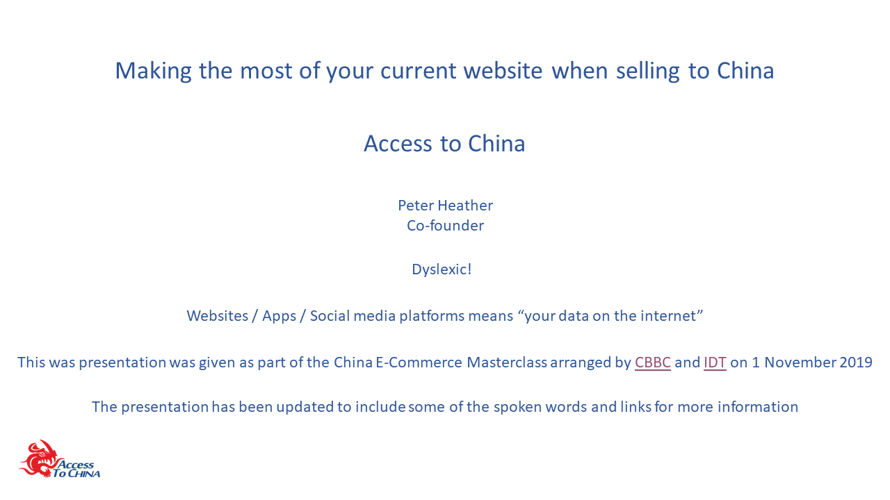 Making the most of your current website when selling to China v3.3b