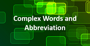 complex words and abbreviations