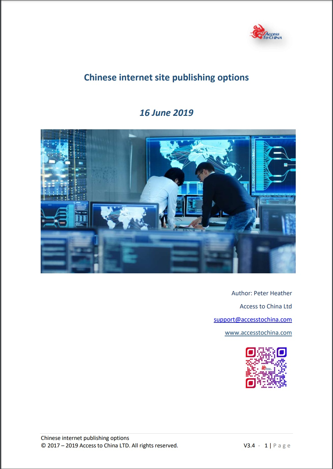 Chinese internet site publishing options paper