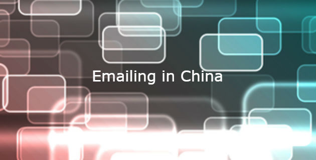 emailing in china